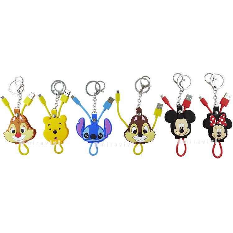 Disney迪士尼Micro USB 立體傳輸線/充電線 廠商直送 現貨