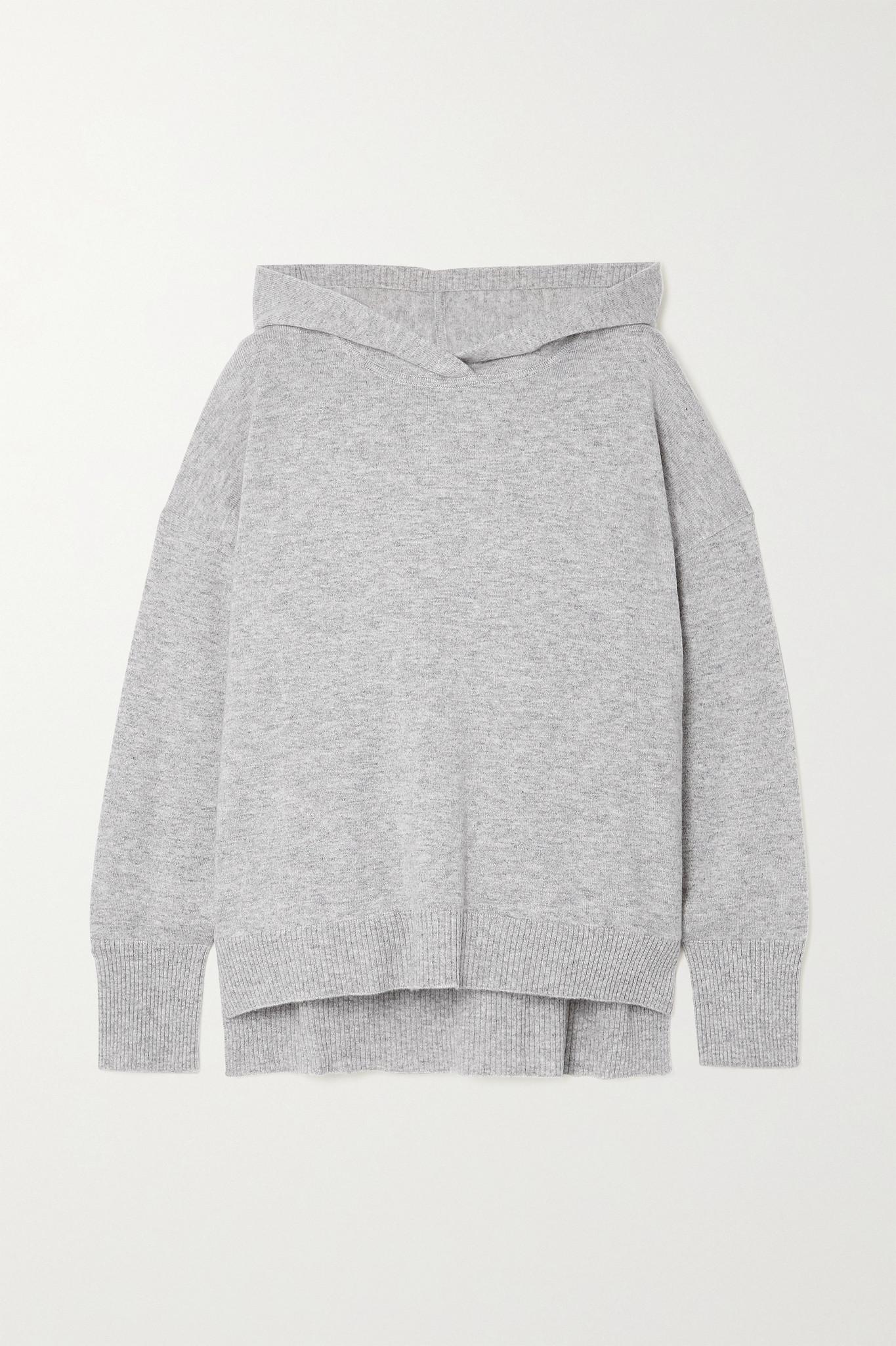 LE KASHA - Riga Cashmere Hoodie - Gray - medium