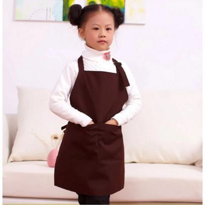 ?#韓版帆布幼稚園兒童畫畫圍裙 88012 簡約可愛圍裙罩衣畫畫衣定制
