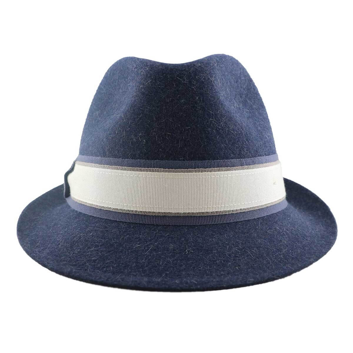 Exclusive Henly Fur Felt Trilby Hat - Blue Mix-Blue Mix-s