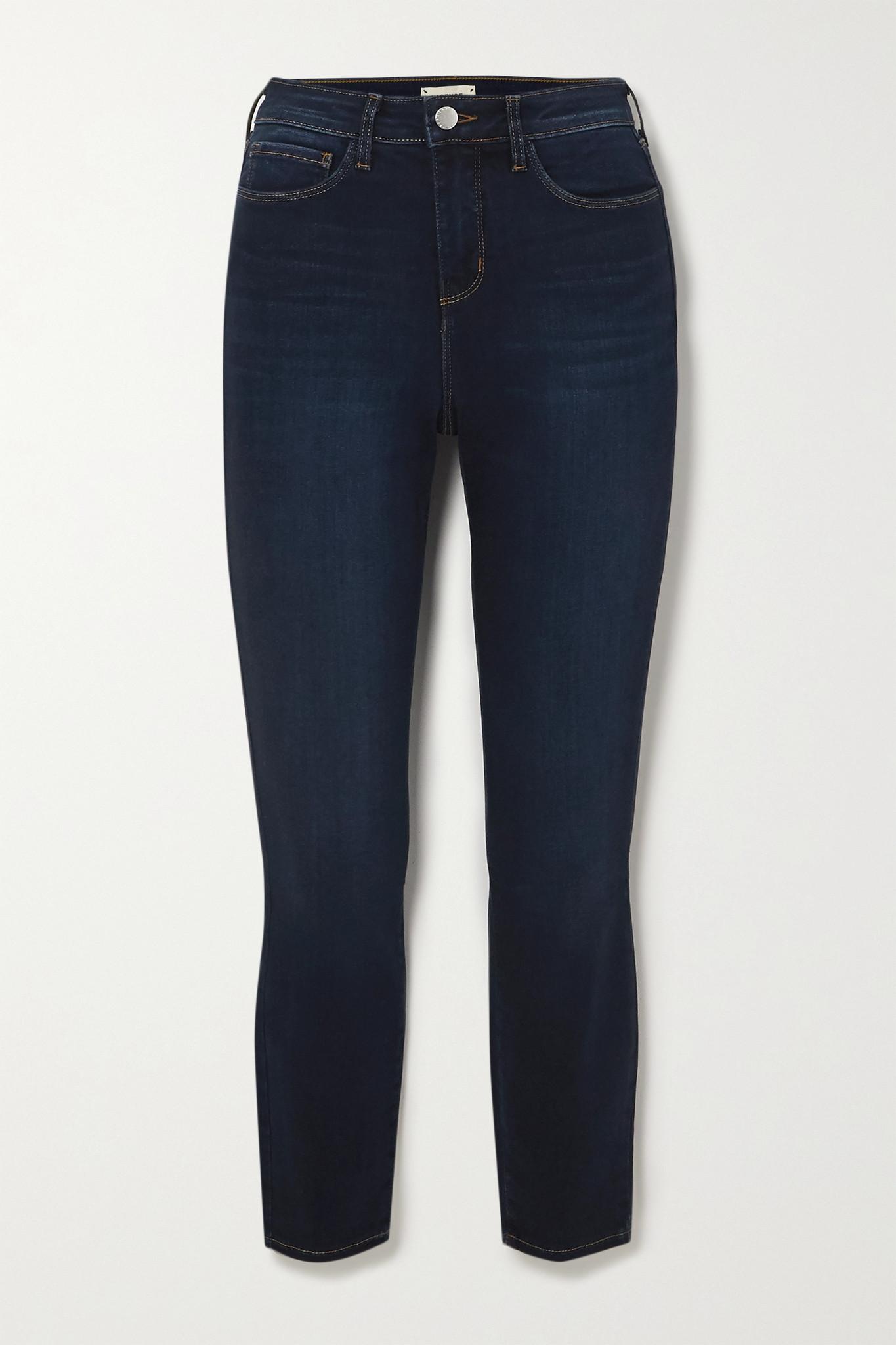 L'AGENCE - Margot 高腰紧身九分牛仔裤 - 蓝色 - 31