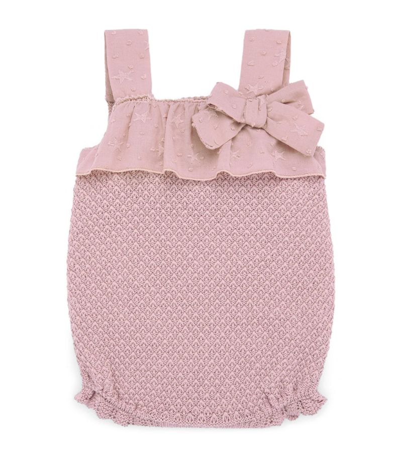 Paz Rodriguez Knitted Bow-Detail Bodysuit (1-24 Months)