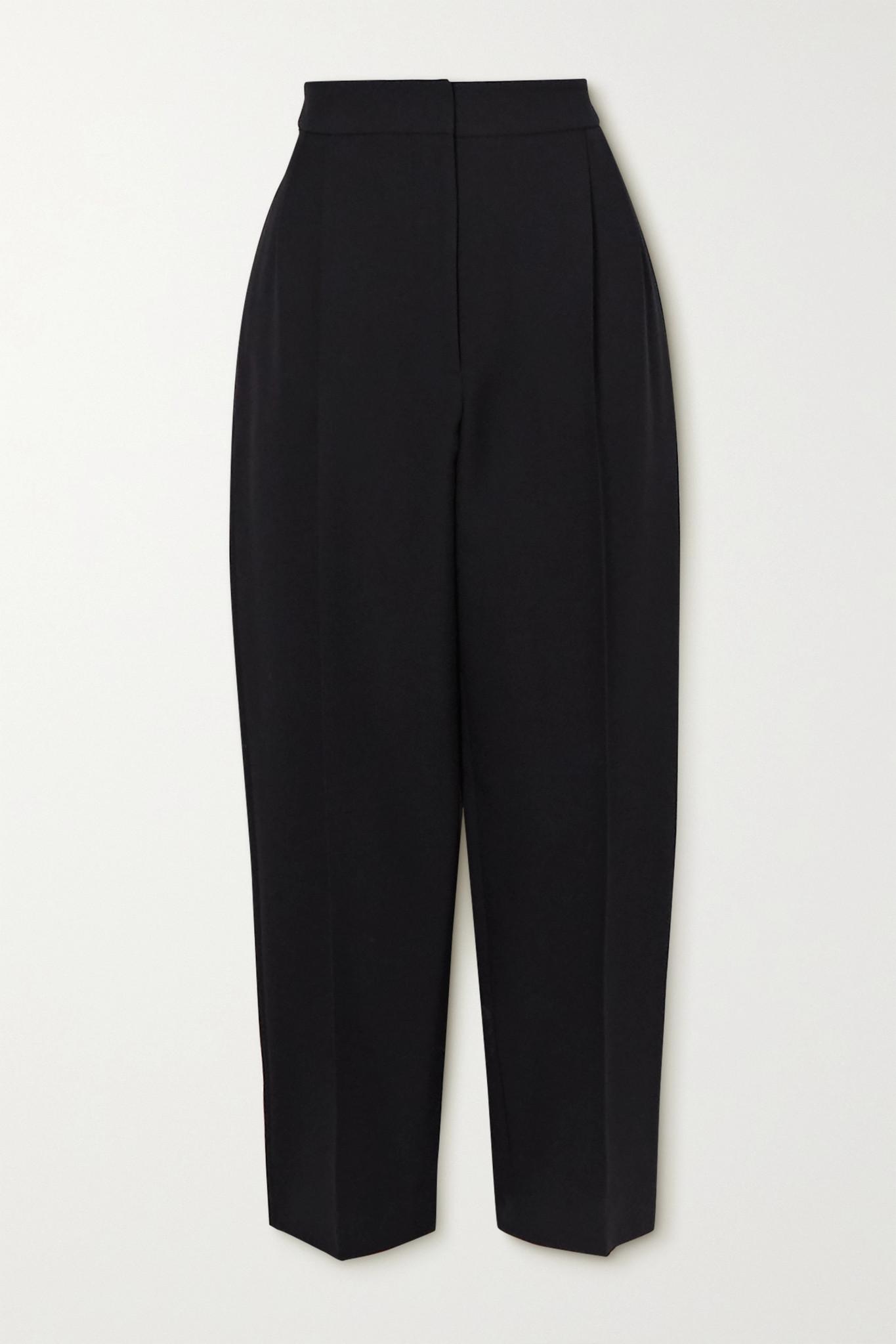 ALEXANDER MCQUEEN - Cropped Wool-blend Tapered Pants - Black - IT42
