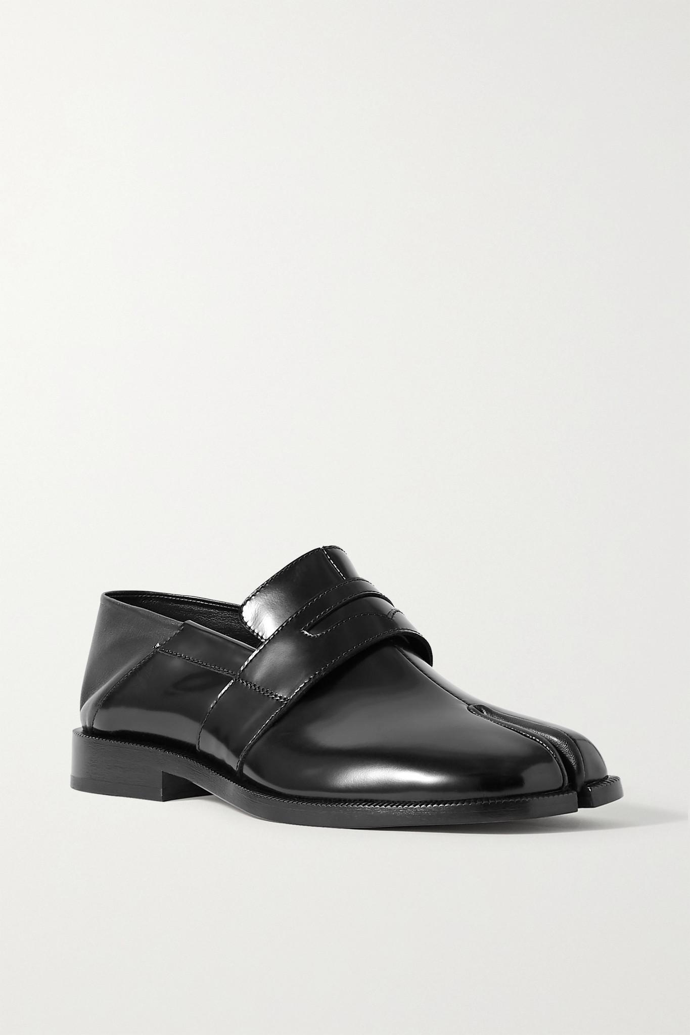 MAISON MARGIELA - 分趾漆皮折叠式后跟乐福鞋 - 黑色 - IT36