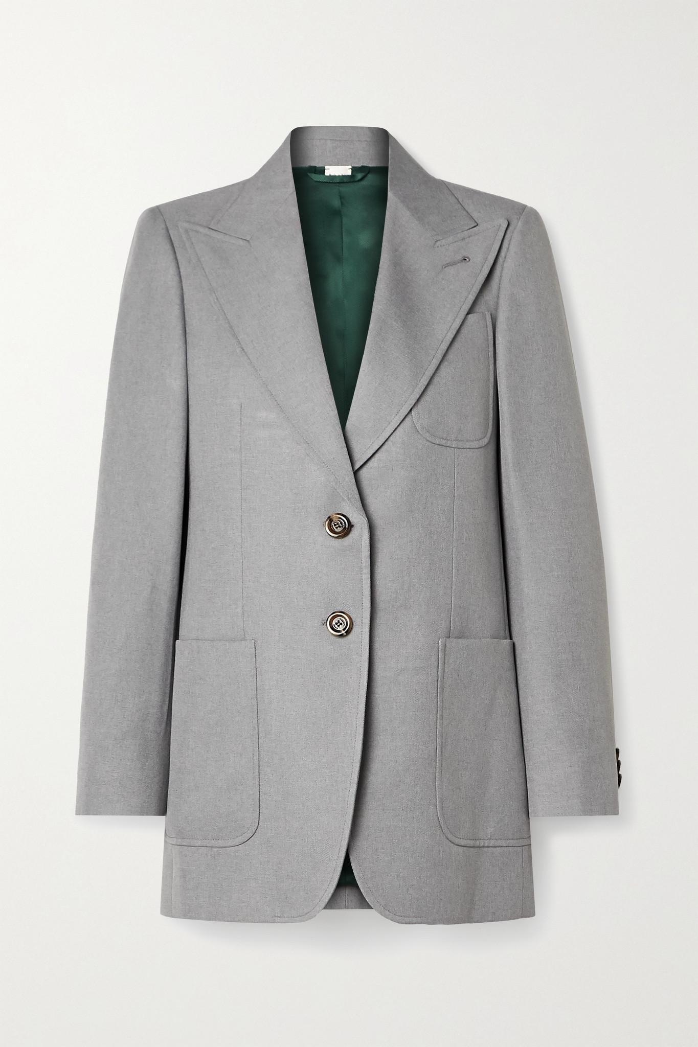 GUCCI - Oversized Woven Blazer - Gray - IT40