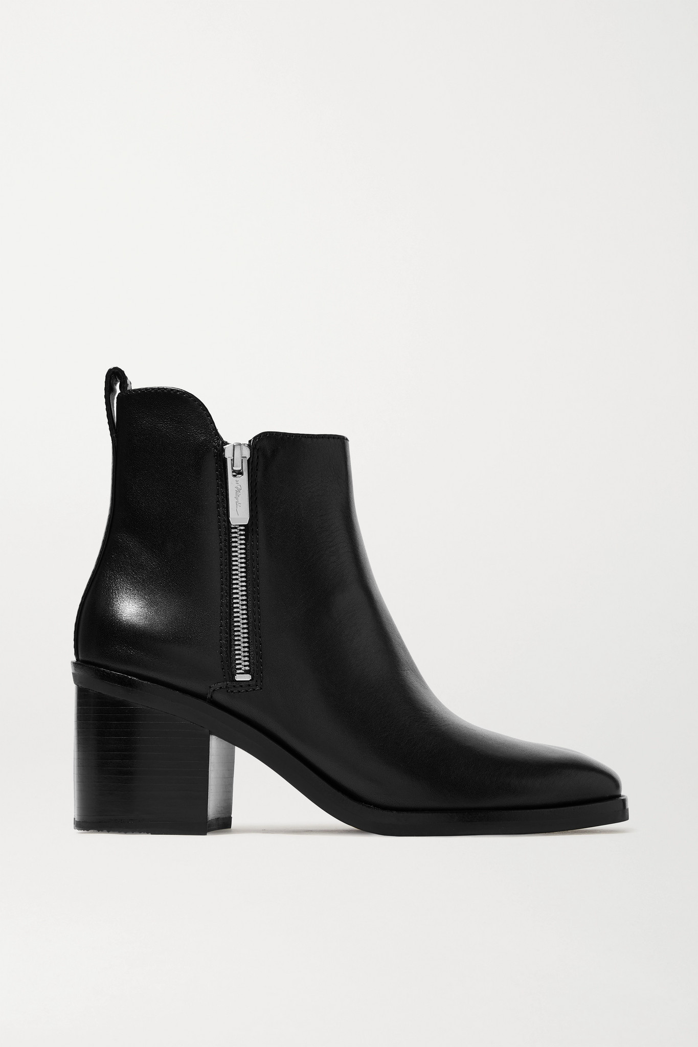 3.1 PHILLIP LIM - Alexa 皮革踝靴 - 黑色 - IT41