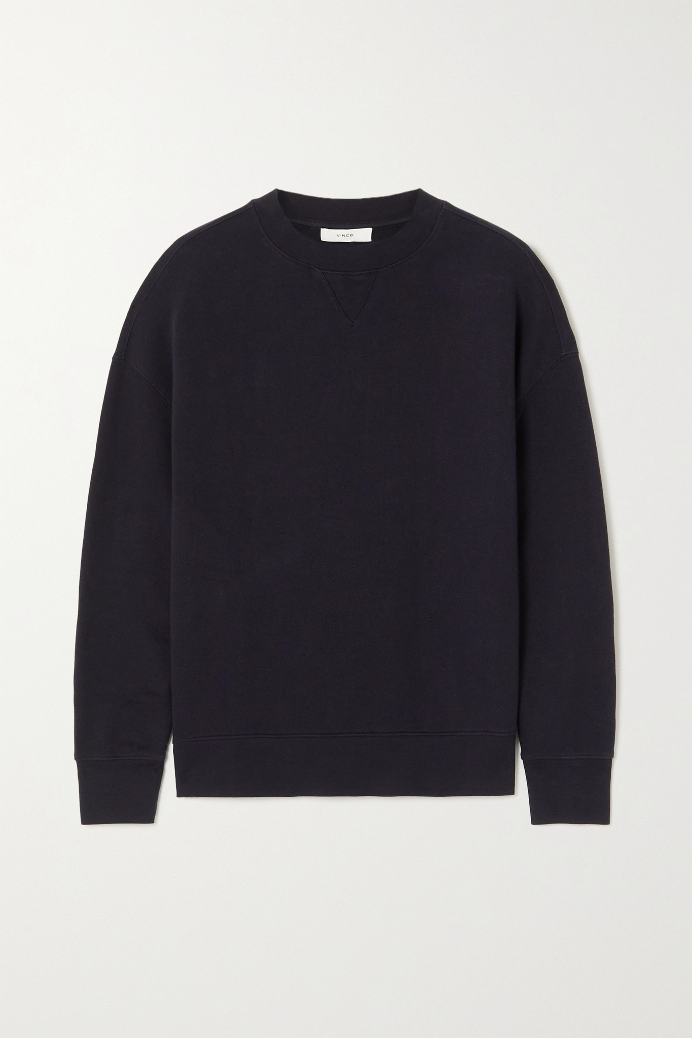 VINCE - Cotton-jersey Sweatshirt - Black - small