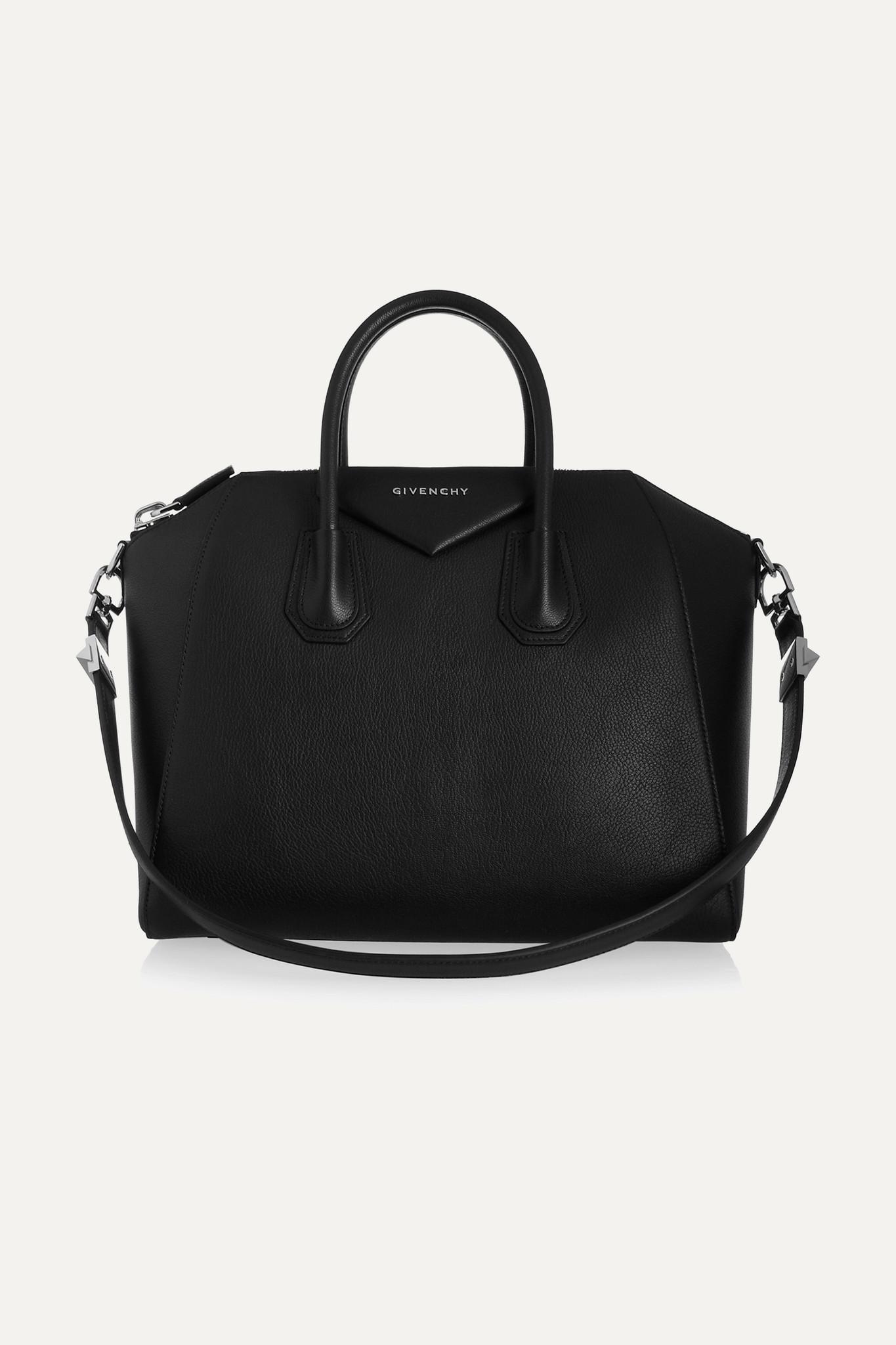 GIVENCHY - Antigona Medium Textured-leather Tote - Black - one size
