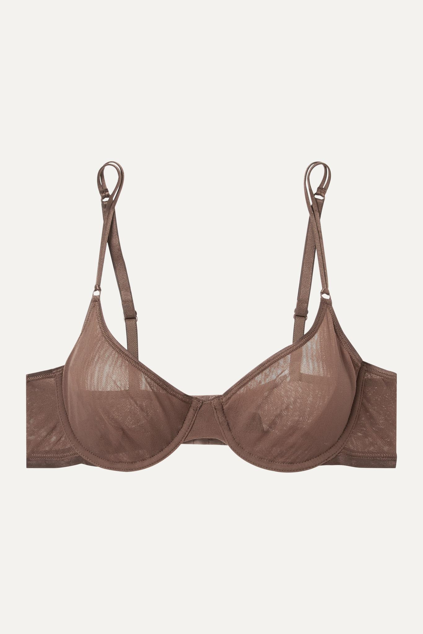 COSABELLA - Soiré Confidence 网布带钢圈软杯文胸 - 棕色 - 32C