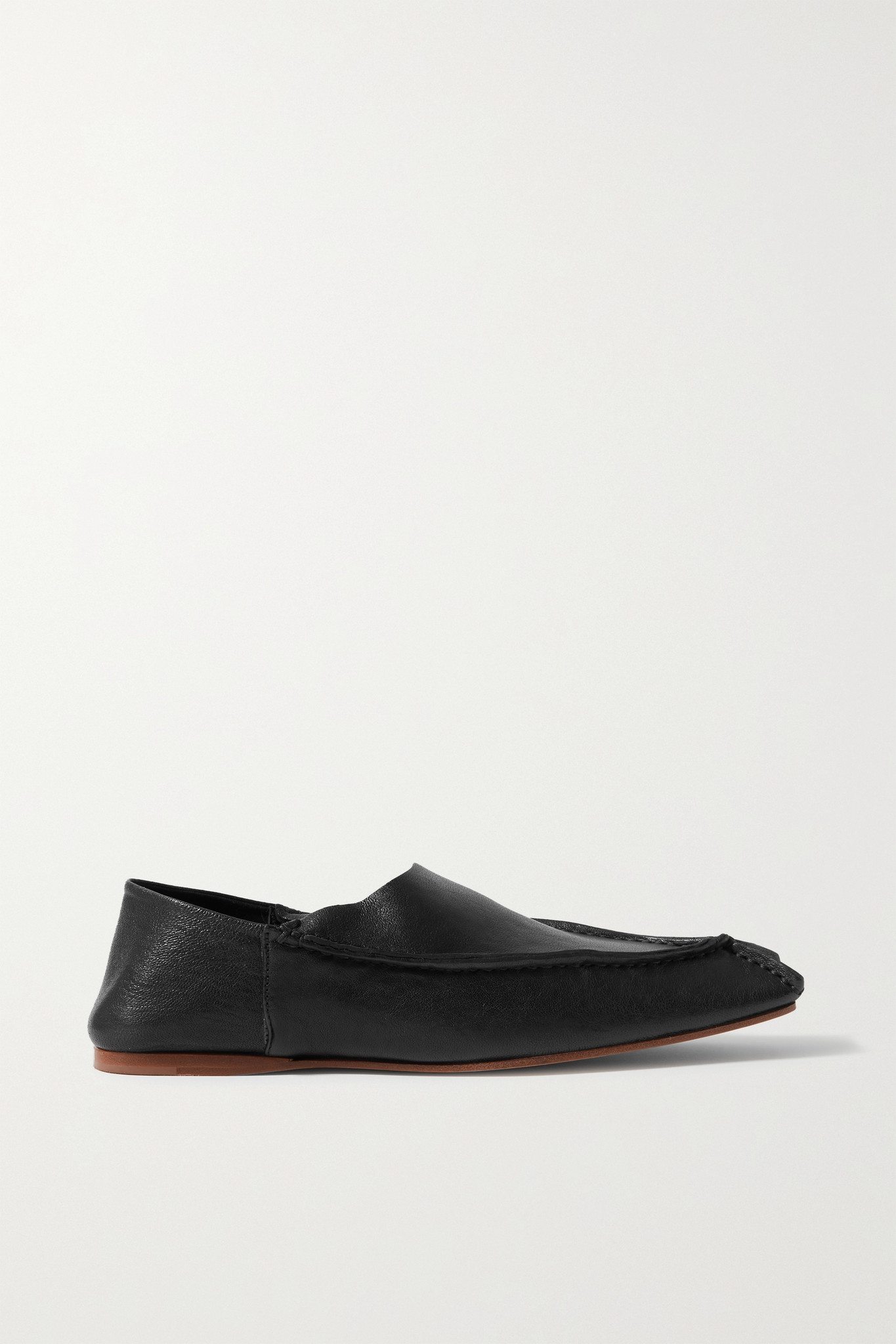 ACNE STUDIOS - Leather Collapsible-heel Loafers - Black - IT37