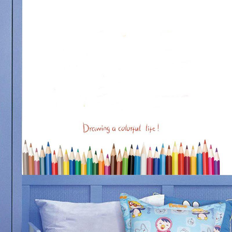 色鉛筆踢腳板壁貼 踢腳板壁貼 客廳佈置 居家佈置 【現貨】