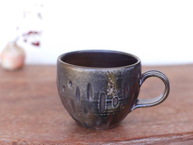 Bizen ware咖啡杯(圓形)C4-064
