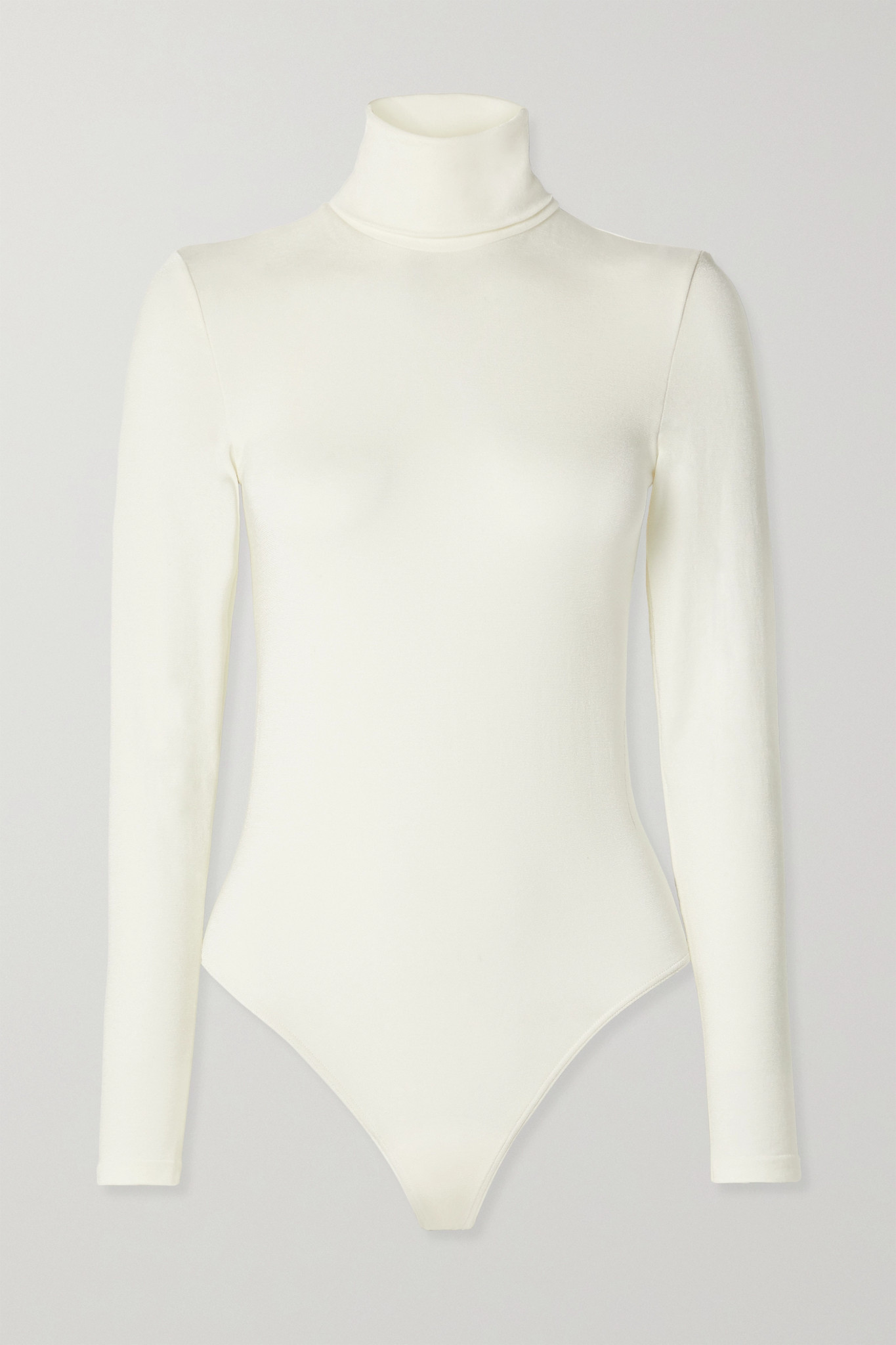 WOLFORD - Colorado Stretch-jersey Turtleneck Thong Bodysuit - Ivory - large