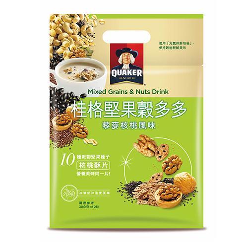 桂格堅果穀多多藜麥核桃風味30Gx10 超值二入組【愛買】
