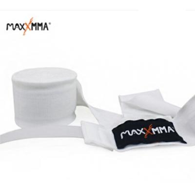 MaxxMMA 彈性手綁帶-白色(2.5米)一雙/ 散打/搏擊/MMA/格鬥/拳擊/綁手帶
