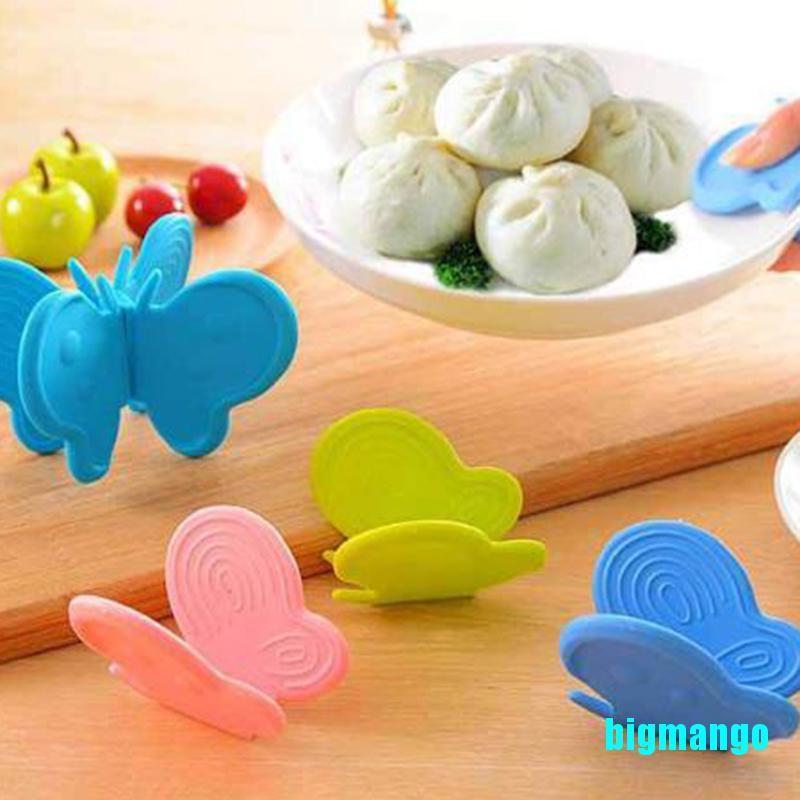 [Bigmango] 2PCS蝴蝶形矽膠防垢設備廚房隔熱板夾