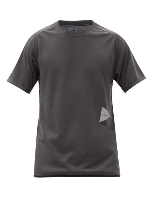 And Wander - Logo-print Technical-jersey T-shirt - Mens - Black