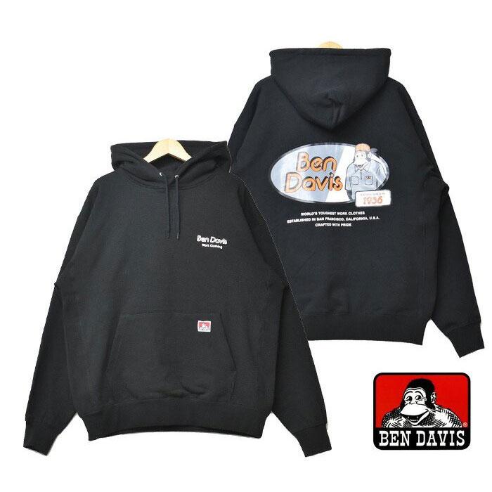 BEN DAVIS - 1380040-01 GORILLA OVAL HOODIE 帽T (黑色)