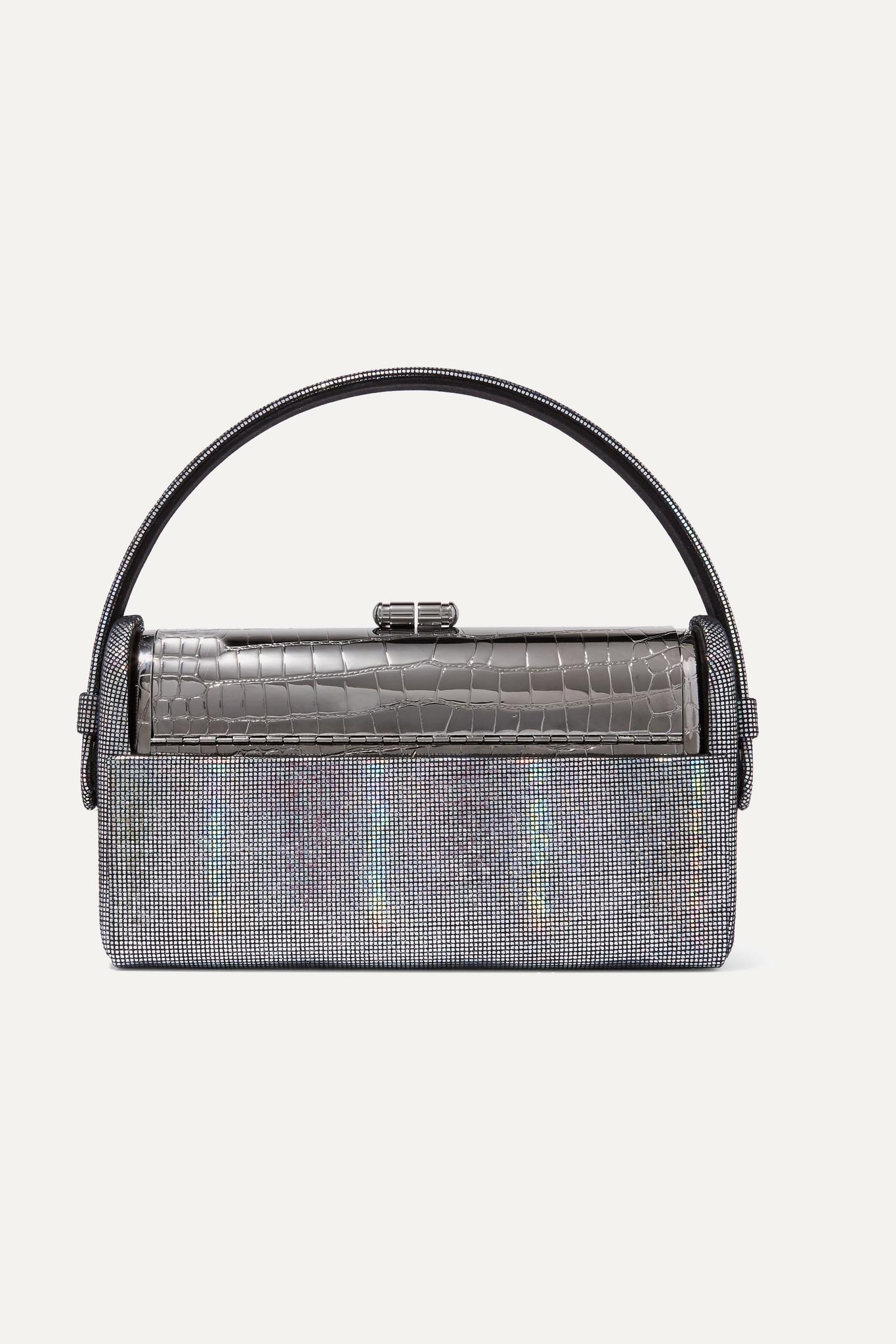 BIENEN-DAVIS - Régine 虹彩皮革浸镀银手提包 - 金属色 - One size