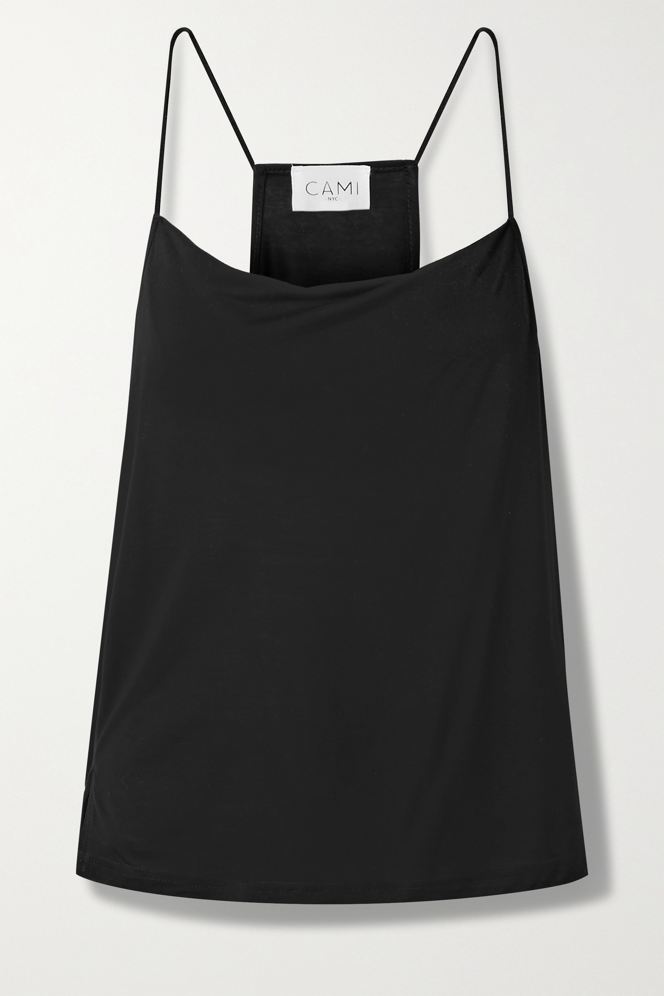 CAMI NYC - The Aggie Draped Modal-jersey Camisole - Black - xx small