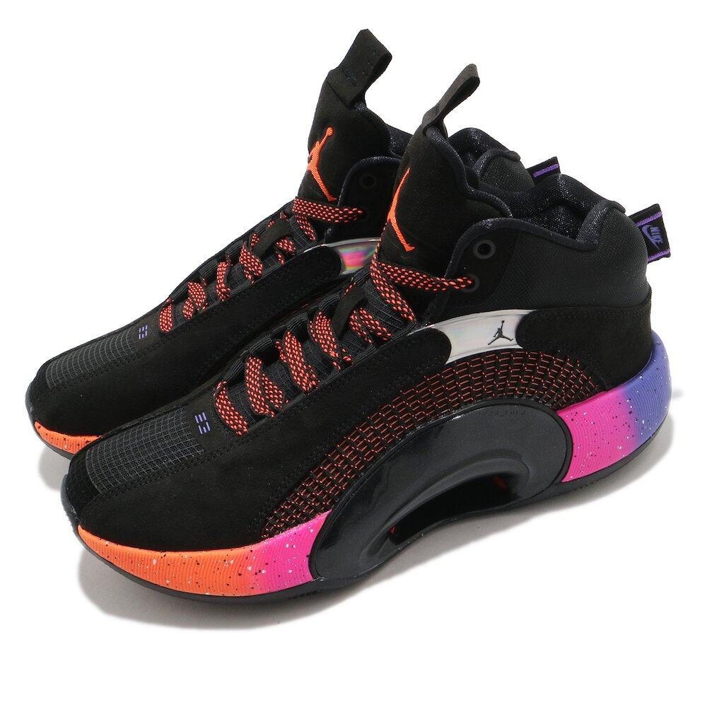 NIKE 籃球鞋 Air Jordan XXXV 運動 女鞋 喬丹 避震 包覆 明星款 支撐 球鞋 黑 彩 [CQ9433-004]