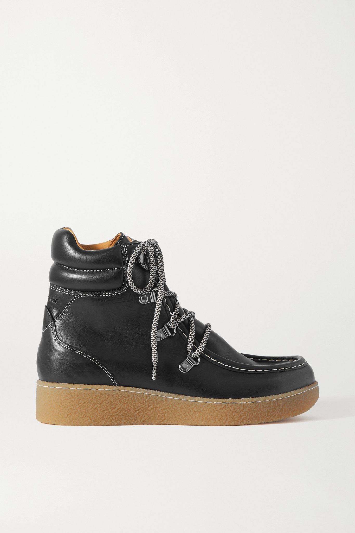 ISABEL MARANT - Alpica Leather Ankle Boots - Black - FR36