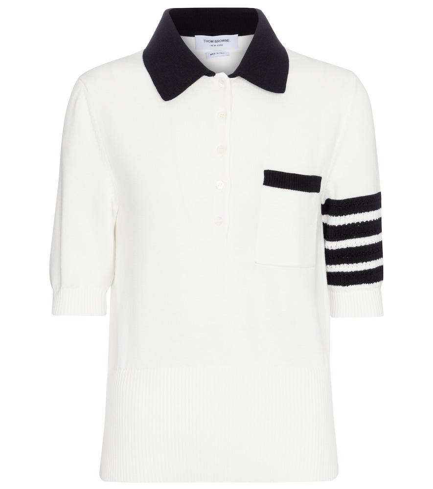 Cotton knit polo shirt