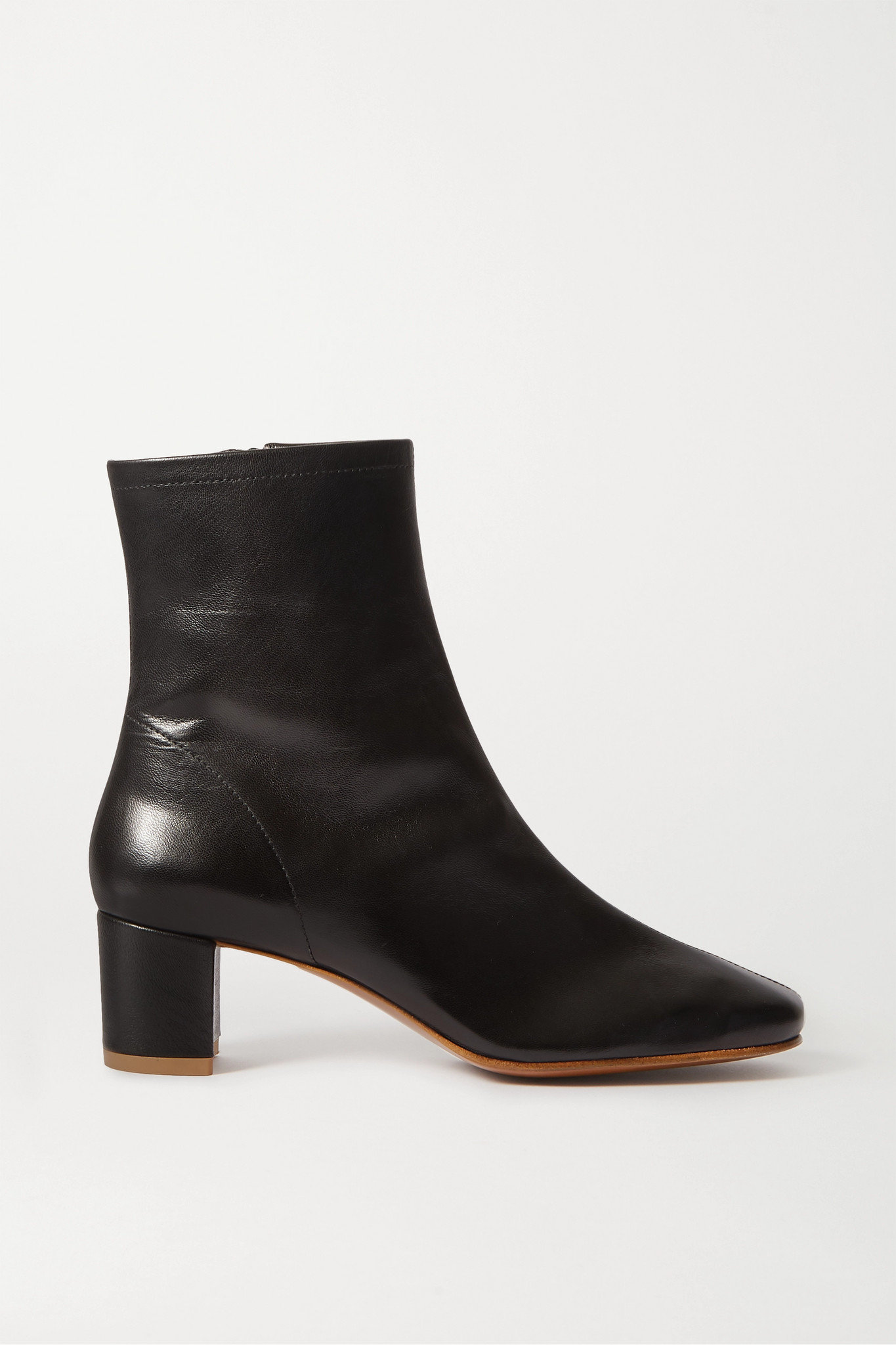 BY FAR - Sofia 皮革踝靴 - 黑色 - IT41