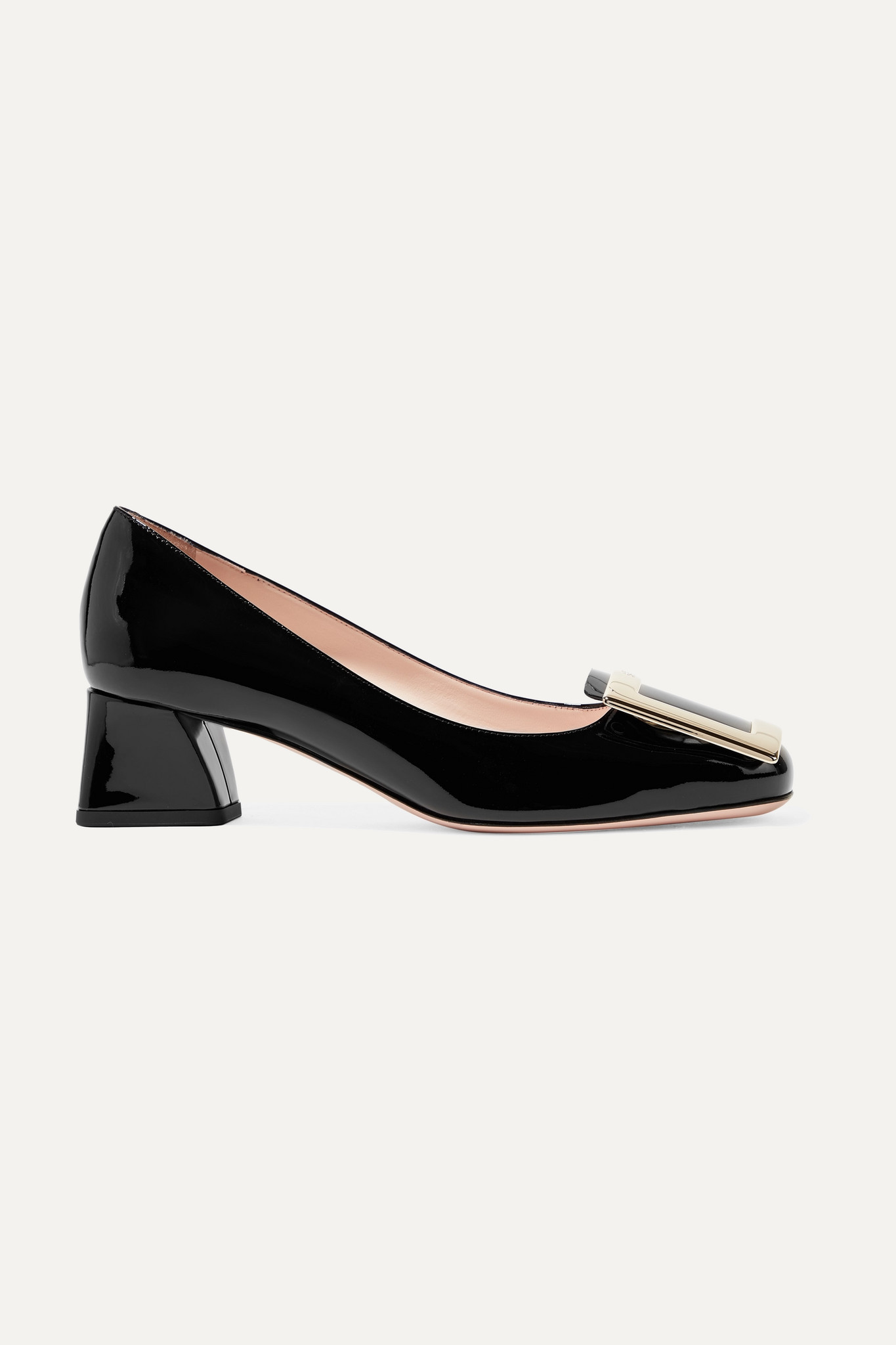 ROGER VIVIER - Belle De Jour Patent-leather Pumps - Black - IT35