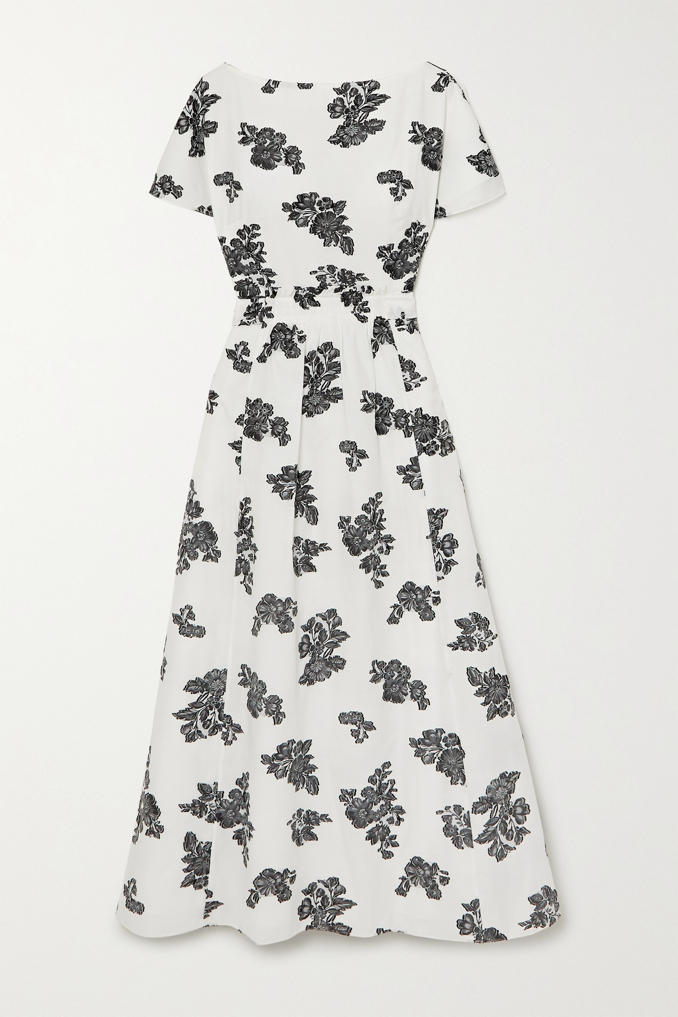 ERDEM - Fraser Fil Coupé Twill Midi Dress - White - UK8