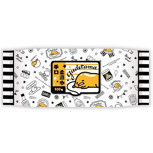 蛋黃哥 手口柔濕巾(加蓋100抽)【小三美日】三麗鷗授權 D508699