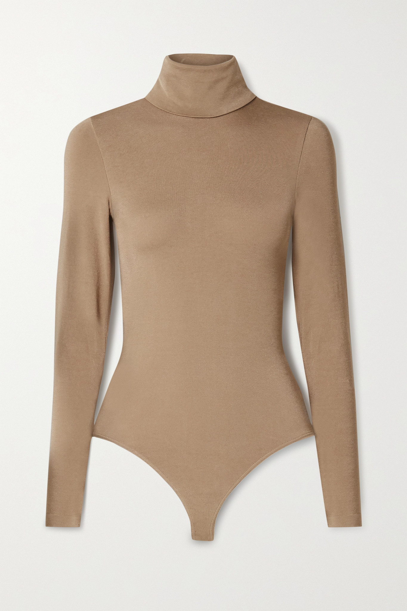 WOLFORD - Colorado Stretch-jersey Turtleneck Thong Bodysuit - Neutrals - small