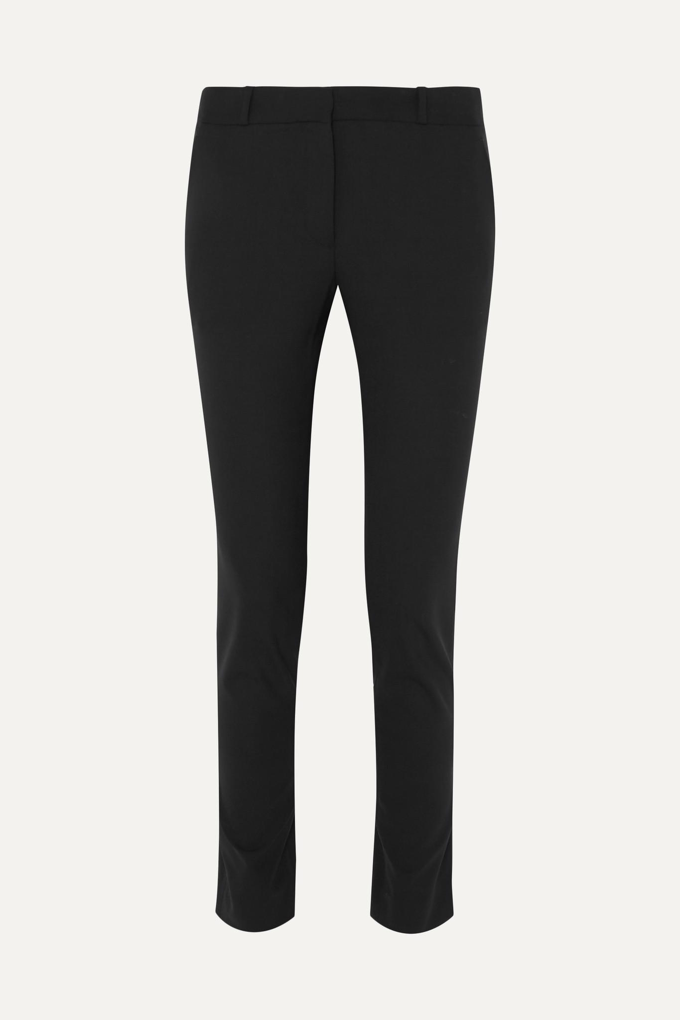 THE ROW - Franklin Wool-blend Slim-leg Pants - Black - US10