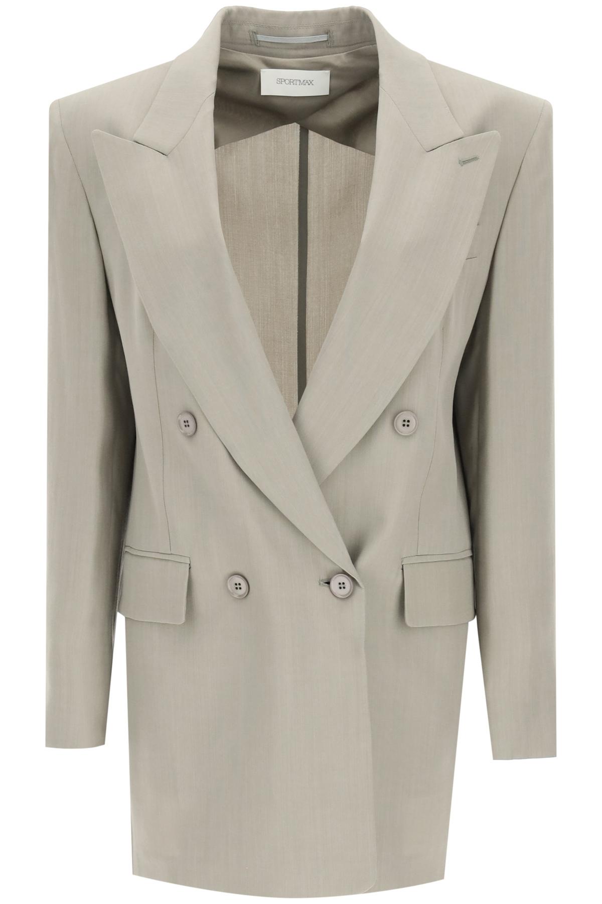 SPORTMAX ONIRICA OVERSIZED BLAZER 38 Grey Wool