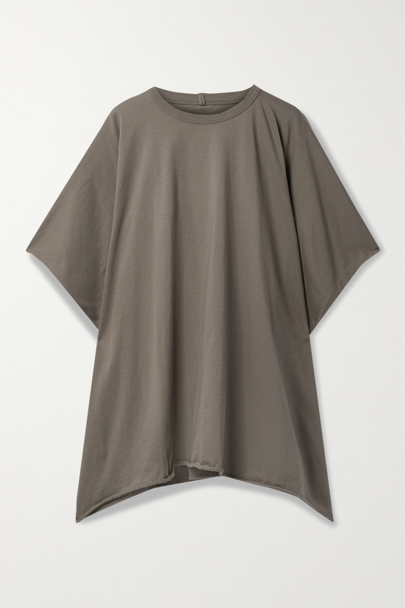 RICK OWENS - Minerva Cotton-jersey T-shirt - Brown - IT42