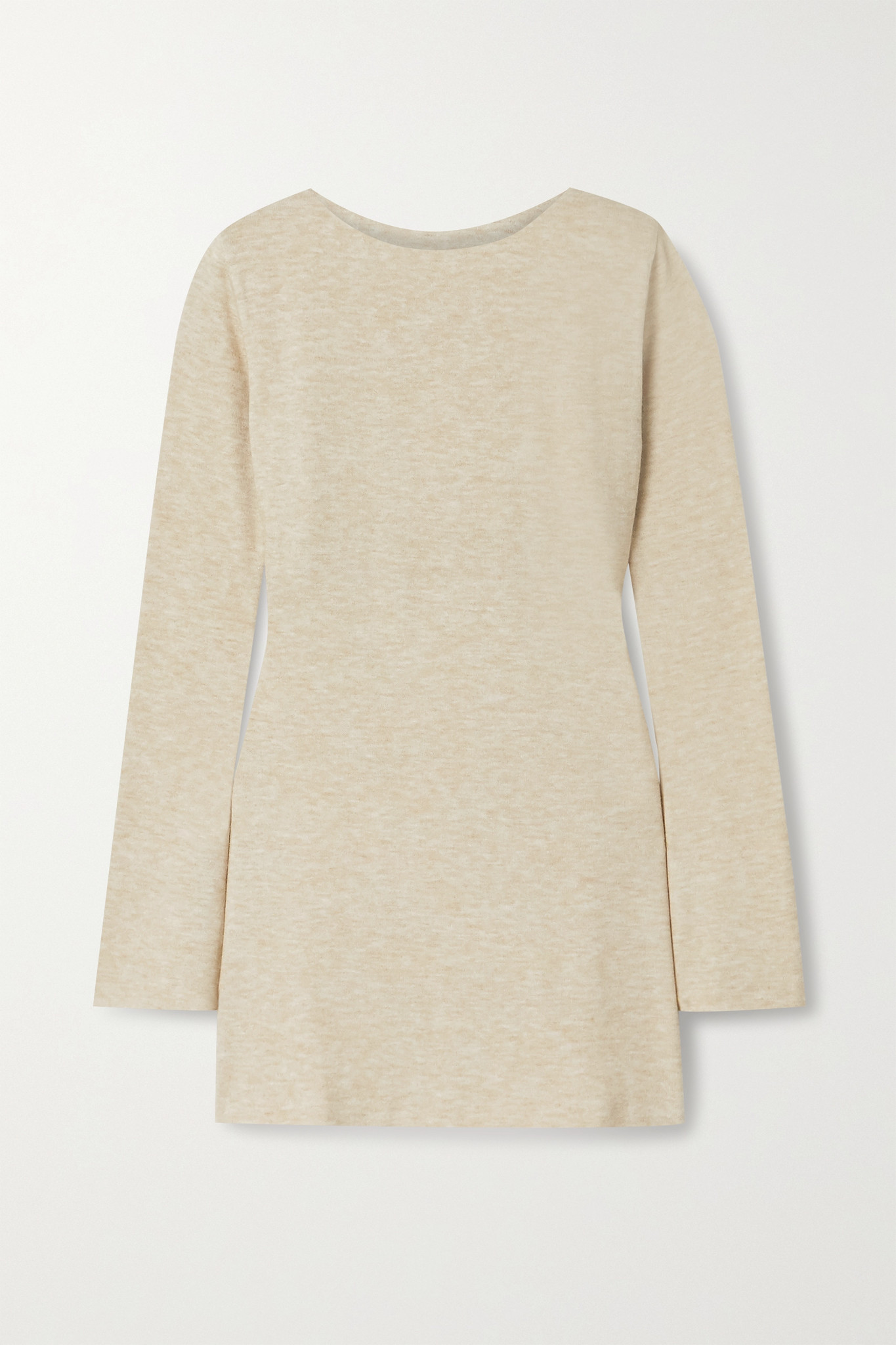 AAIZÉL - + Net Sustain Mélange Knitted Tunic - Neutrals - small