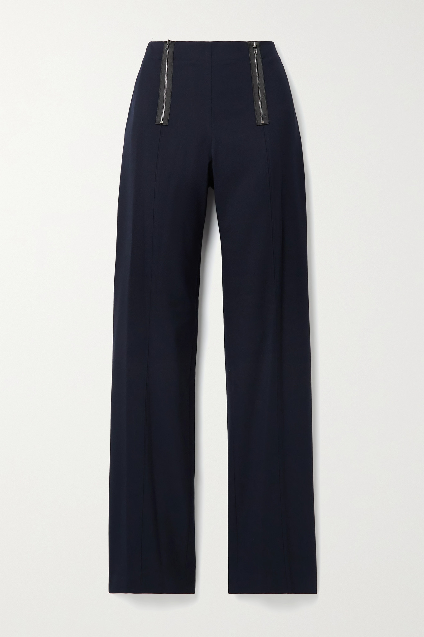 JASON WU - Zip-embellished Twill Straight-leg Pants - Blue - US8