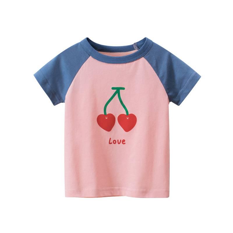 27home品牌童裝女孩上衣洋氣 可愛夏季新款2021韓版兒童短袖t卹女寶寶衣服透氣
