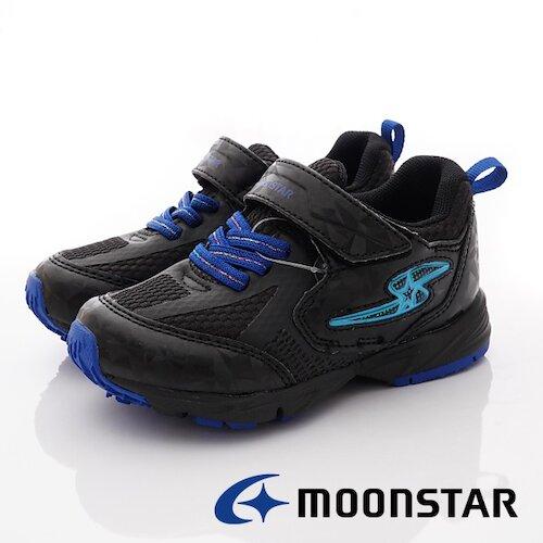 日本月星競速童鞋-電燈競速運動款-SSk10236黑-(16cm-19cm)