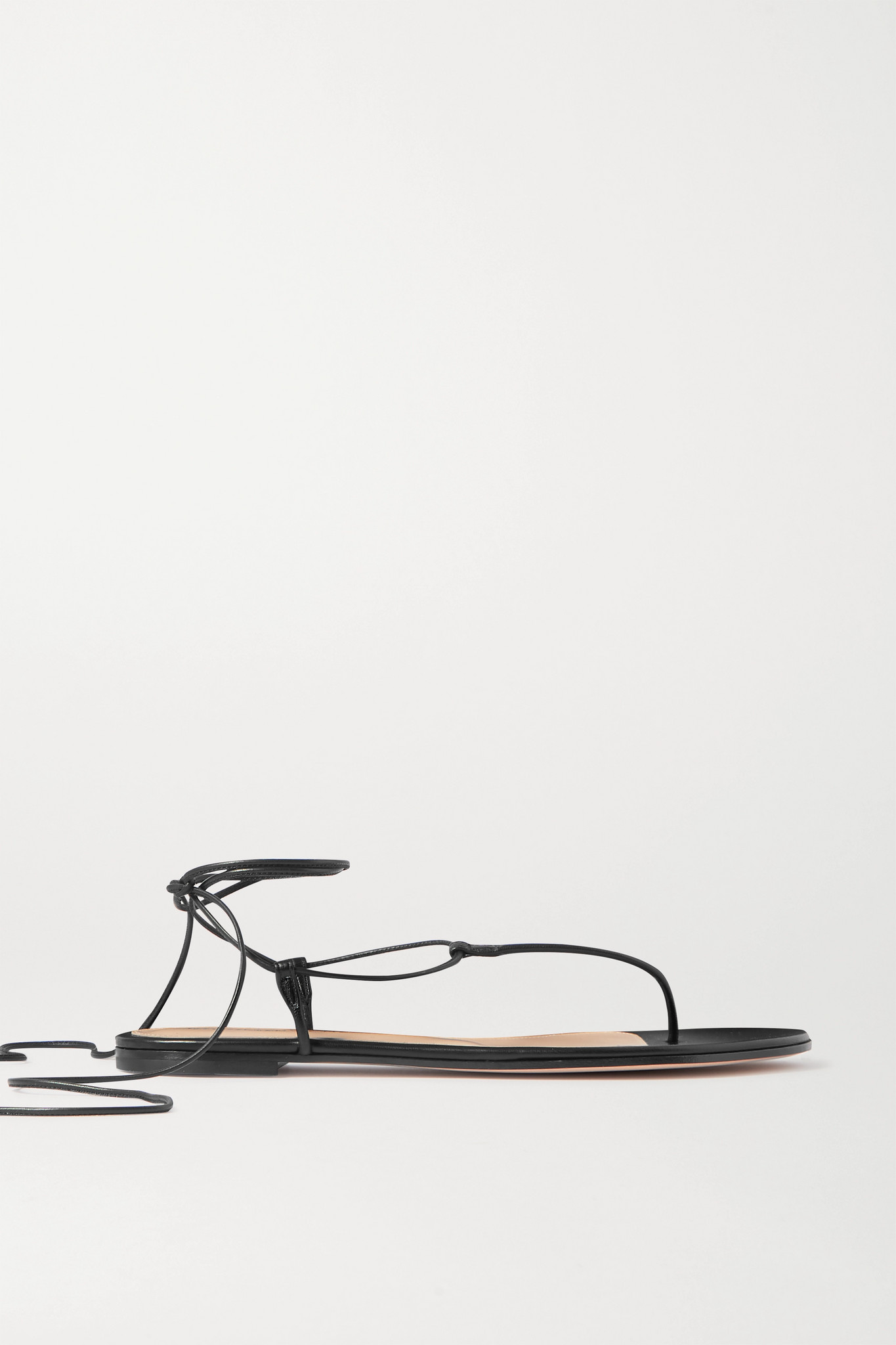 GIANVITO ROSSI - Leather Sandals - Black - IT38.5