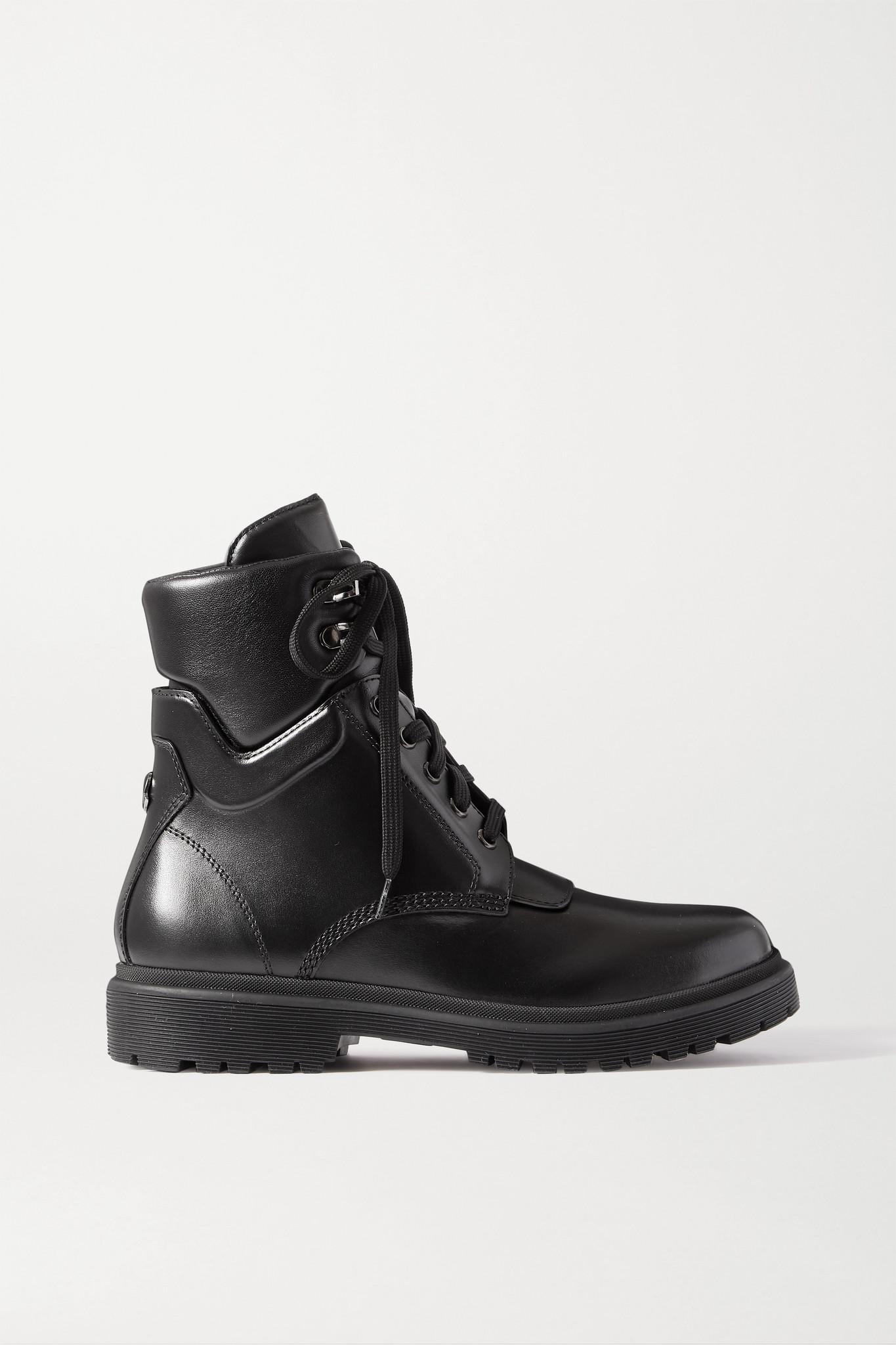 MONCLER - Patty 皮革踝靴 - 黑色 - IT38.5