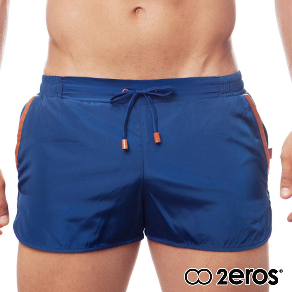 ★花枝招展★限時8折★2EROS 悉尼城市側面開口男短褲(海藍色),L2-S1120NVN1