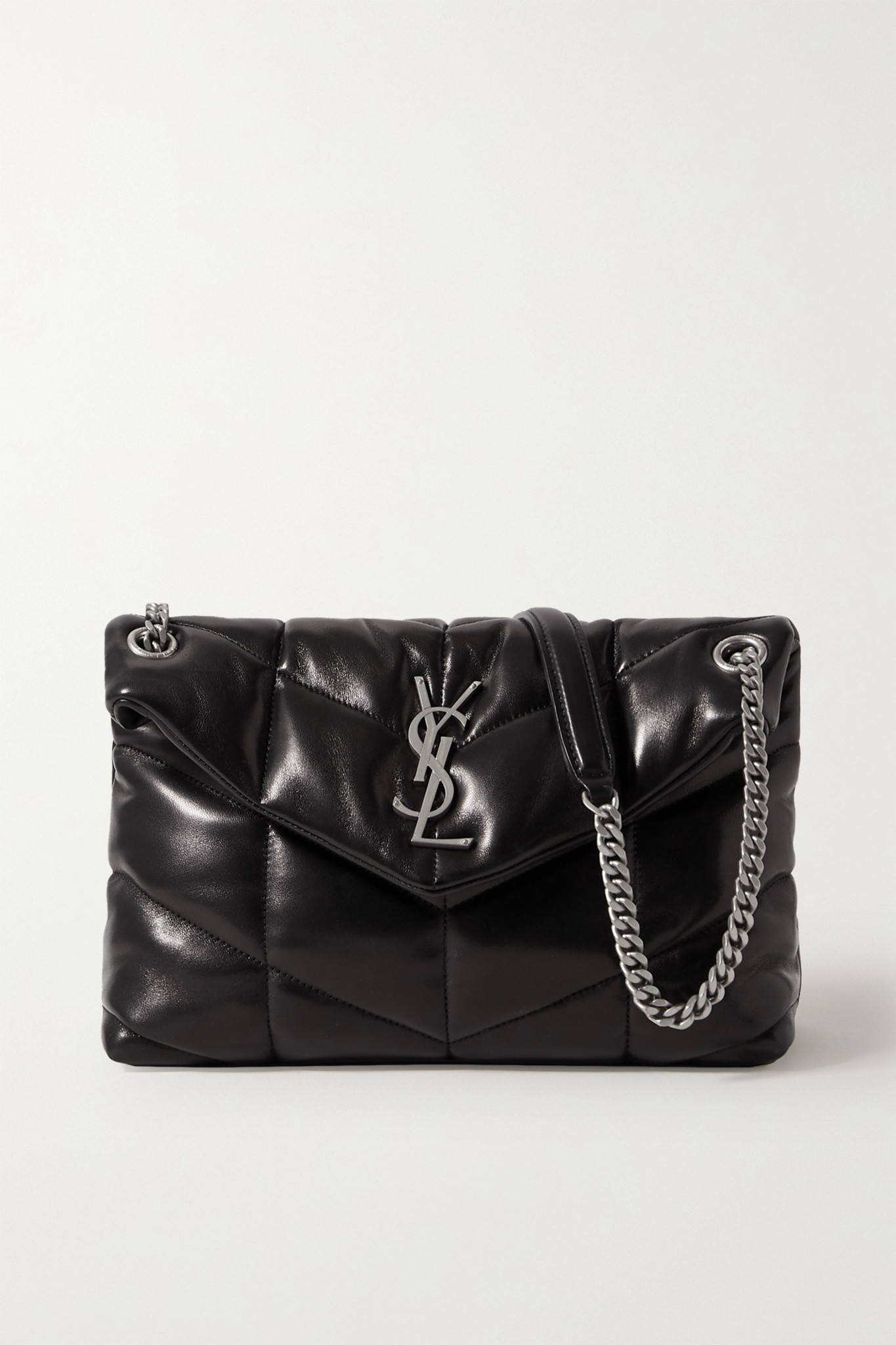 SAINT LAURENT - Loulou Small Quilted Leather Shoulder Bag - Black - one size