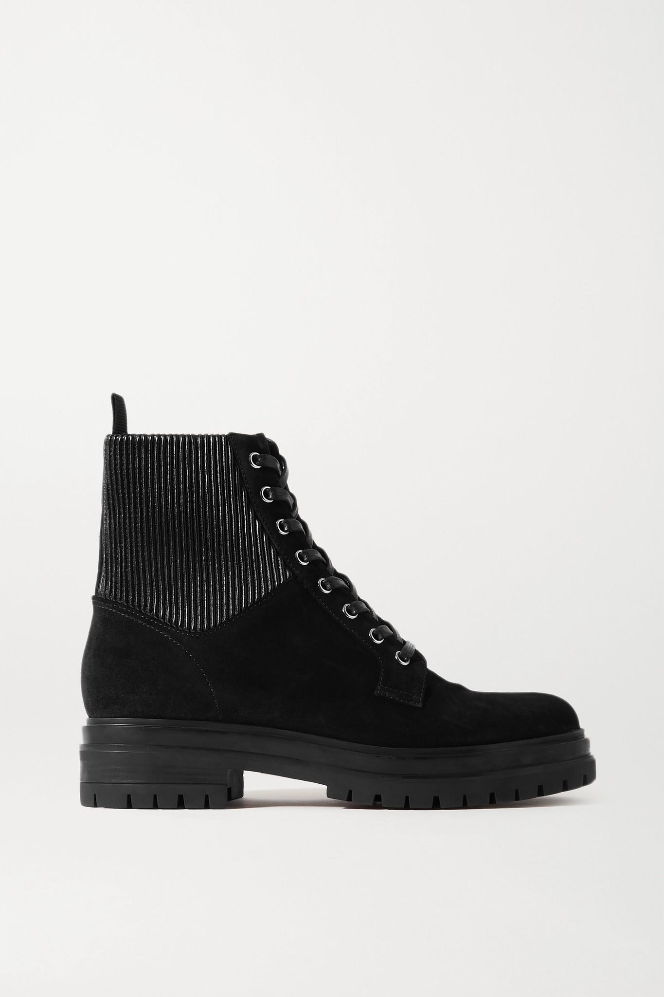 GIANVITO ROSSI - Martis 20 绒面革踝靴 - 黑色 - IT41