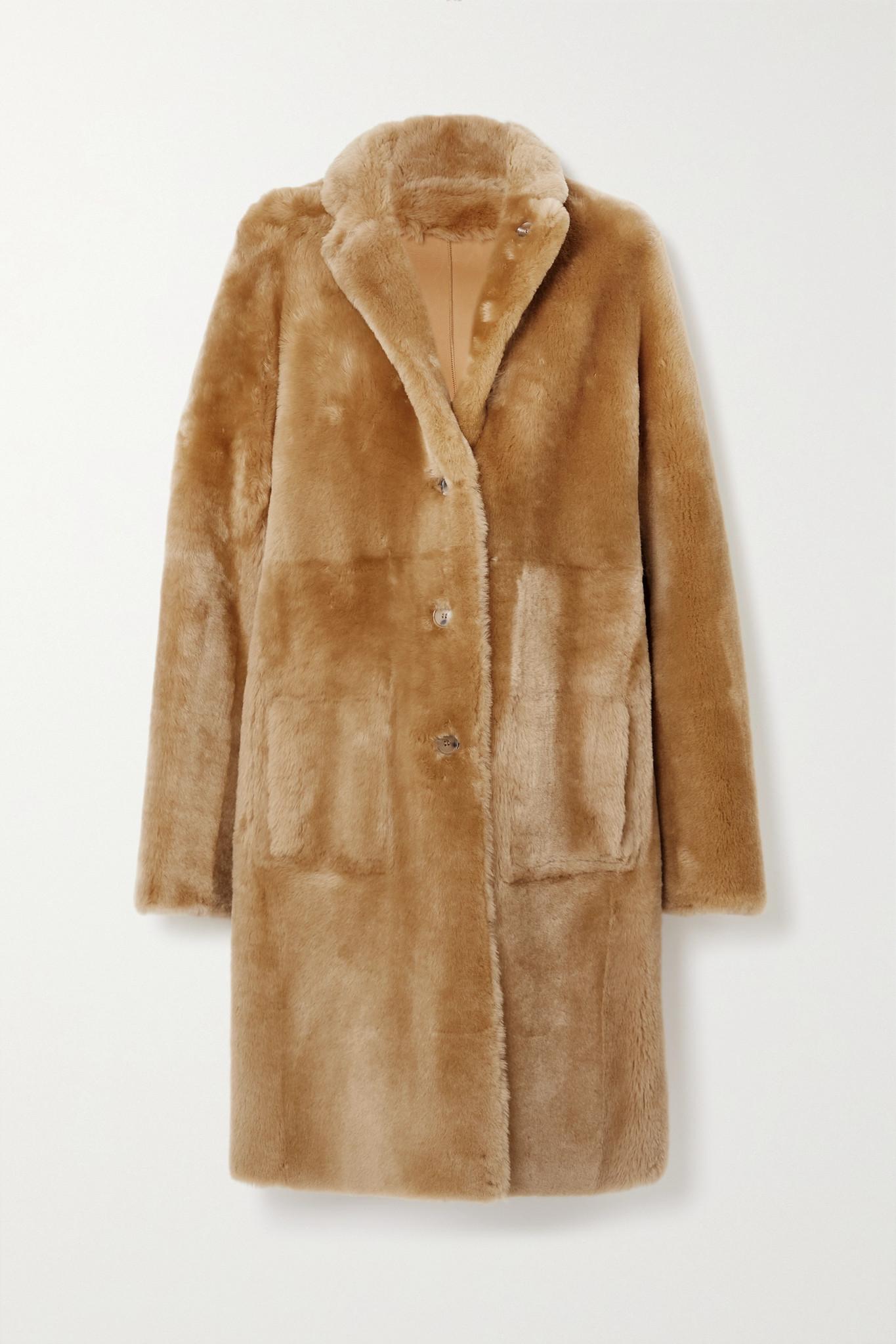 JOSEPH - Brittany 正反两穿羊毛皮外套 - 棕色 - FR38