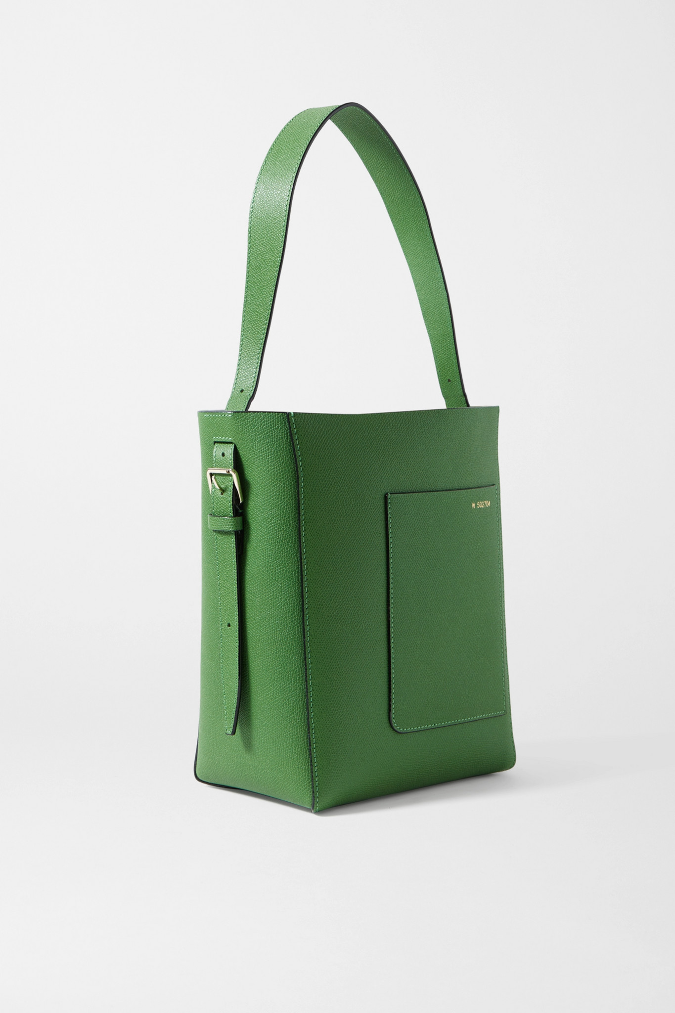 VALEXTRA - Secchiello 纹理皮革小号手提包 - 绿色 - one size