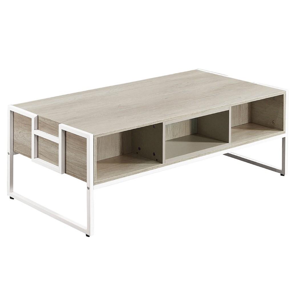 【124cm二抽大茶几-A298-2】實木原木玻璃 大理石長方桌 大小邊几 圓桌 【金滿屋】