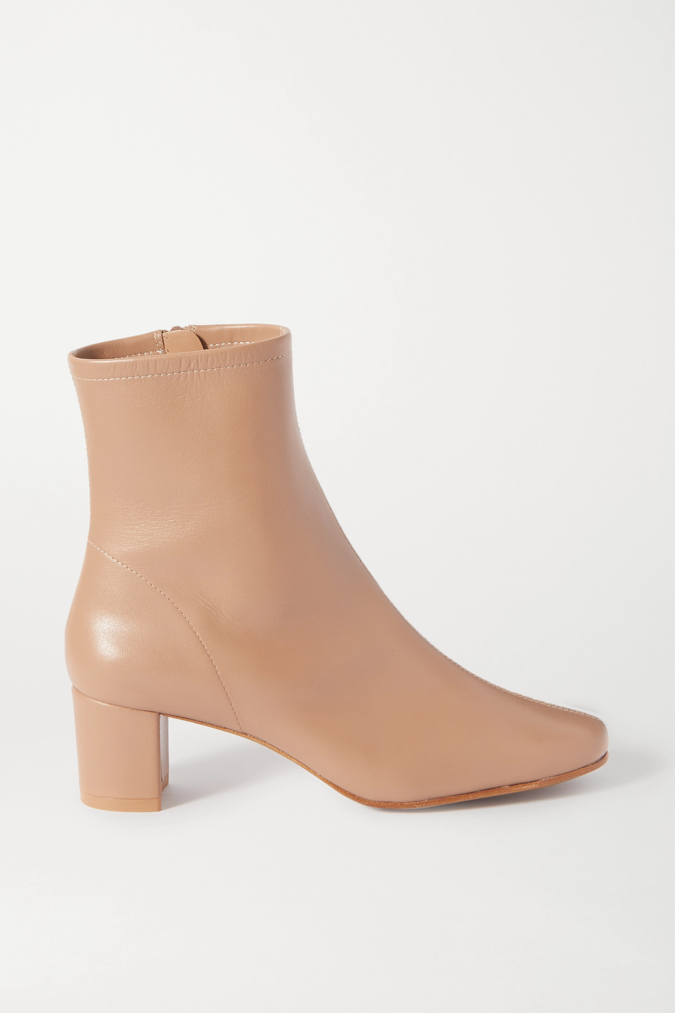 BY FAR - Sofia Leather Ankle Boots - Neutrals - IT40
