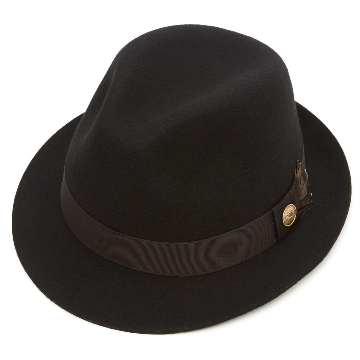 Wychwood Wool Felt Trilby Hat Black M