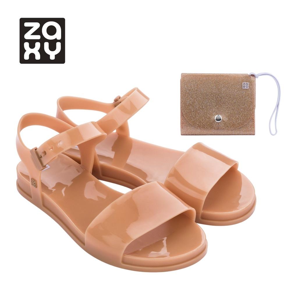 Zaxy [Women] TRENDY + WALLET FEM系列涼鞋-橘咖(1814390613)